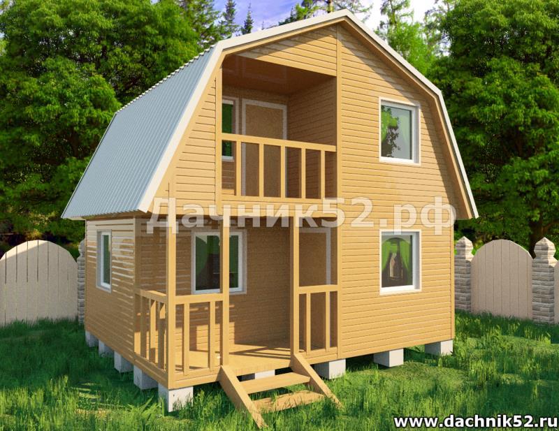 Дачный дом проект Звезда