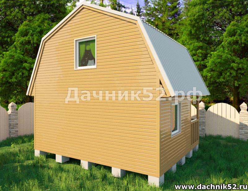 Проект каркасного дома с мансардой - Звезда
