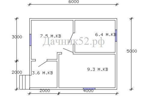 Планировка садового домика Соло 10