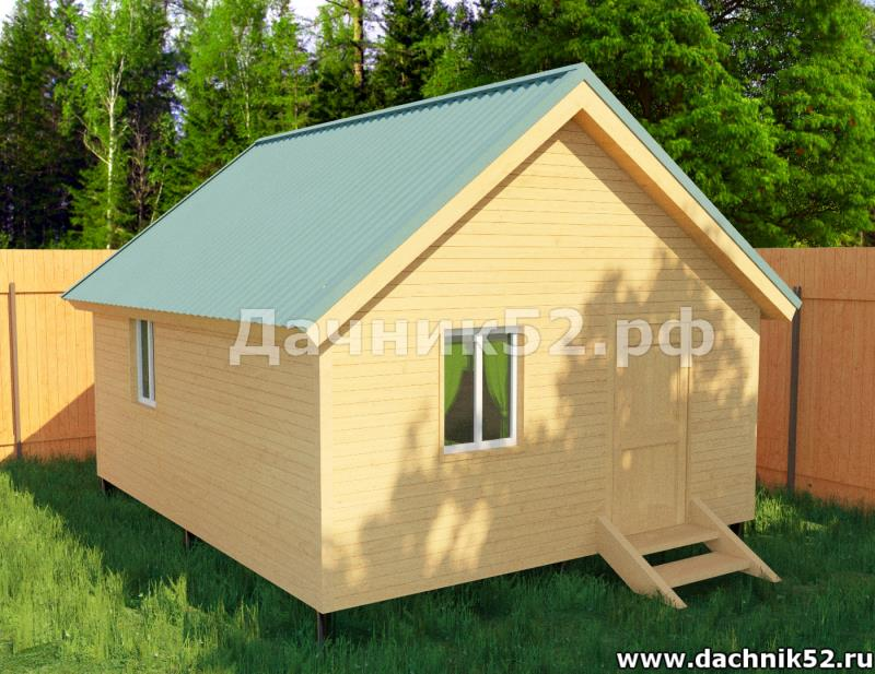 Садовый домик 6х4 одноэтажный