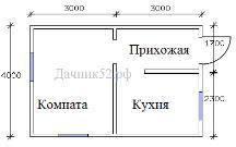 Планировка дачного дома 4х6м