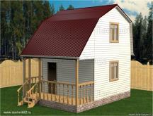 Каркасный дом Аист 4