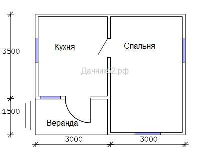 План дома 5х6. Дачник52.рф