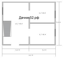 Планировка каркасного дома 5х6 первый этаж