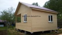 одноэтажный дачный домик 5 на 6 проект Кремёнки фото