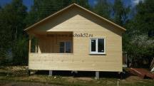 Каркасный домик 5х6 проект Кремёнки в нижнем новгороде фото Дачник52