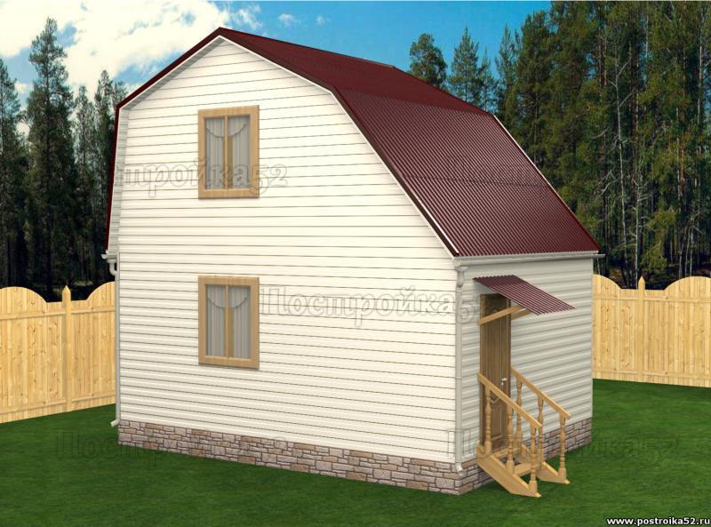 Каркасный дом аист 5