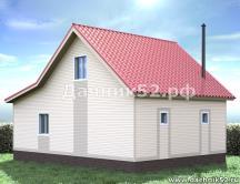 Двухэтажная баня 6х8 кедр 4.