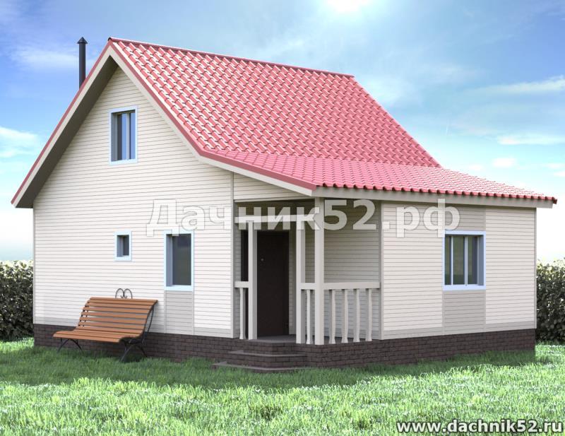 Двухэтажная баня 6х8 Кедр4