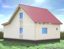 Проект дома 6х8 с кукушкой