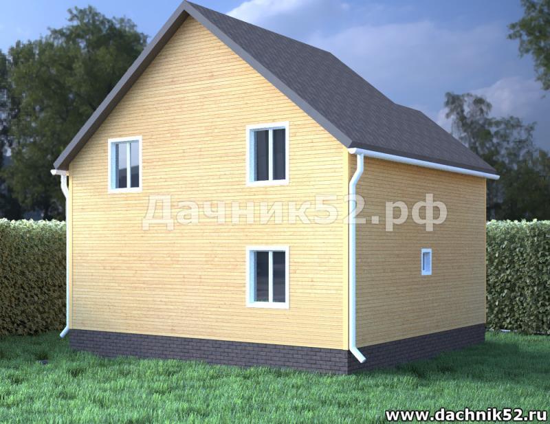 Карканый дом 7х7 с террасой полтора этажа проект Балчуг 11