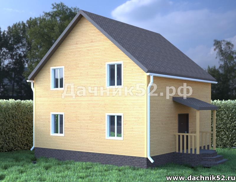 Каркасный дом 7х7 полтора этажа проект Балчуг 14 в нижнем новгороде