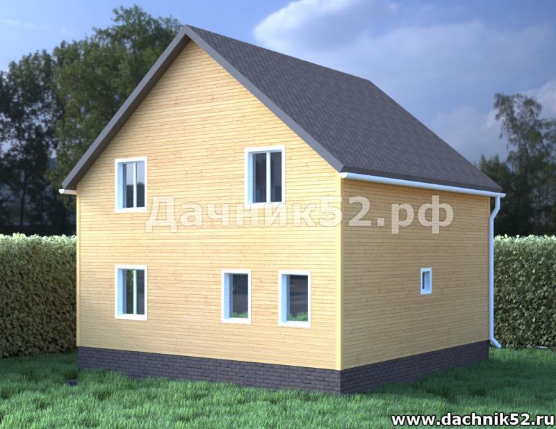 Каркасный дом 7х7.полтора этажа в нижнем новгороде Дачник52