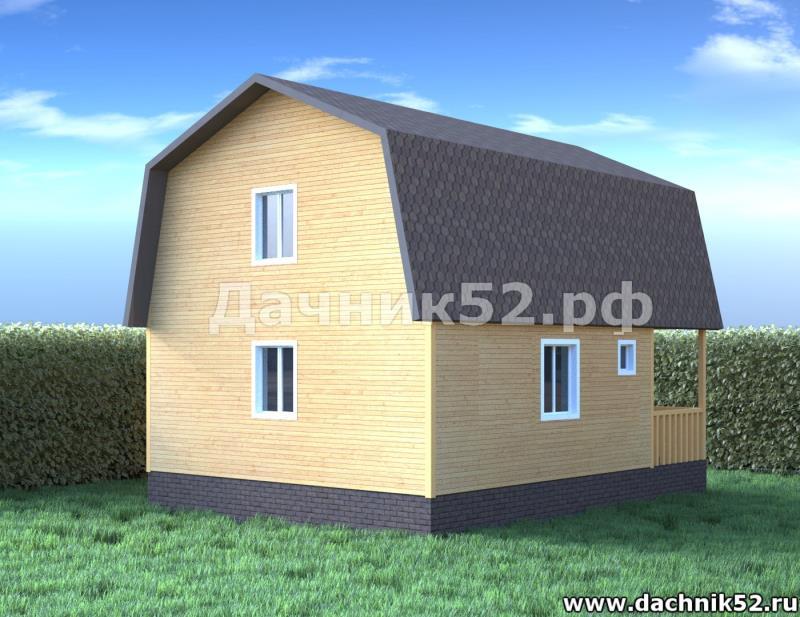 Дом 6х8 вид сзади