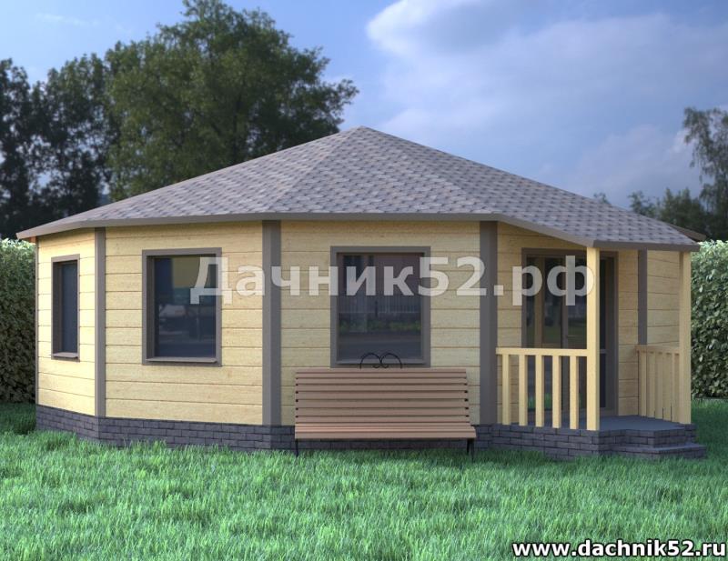 Круглый дом каркасный Дачник52.рф