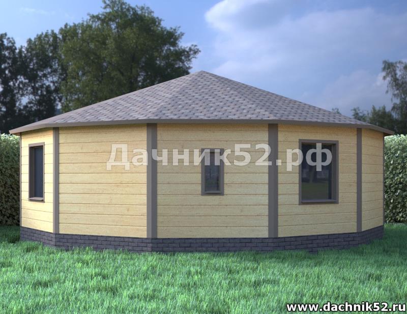 Круглый каркасный дом