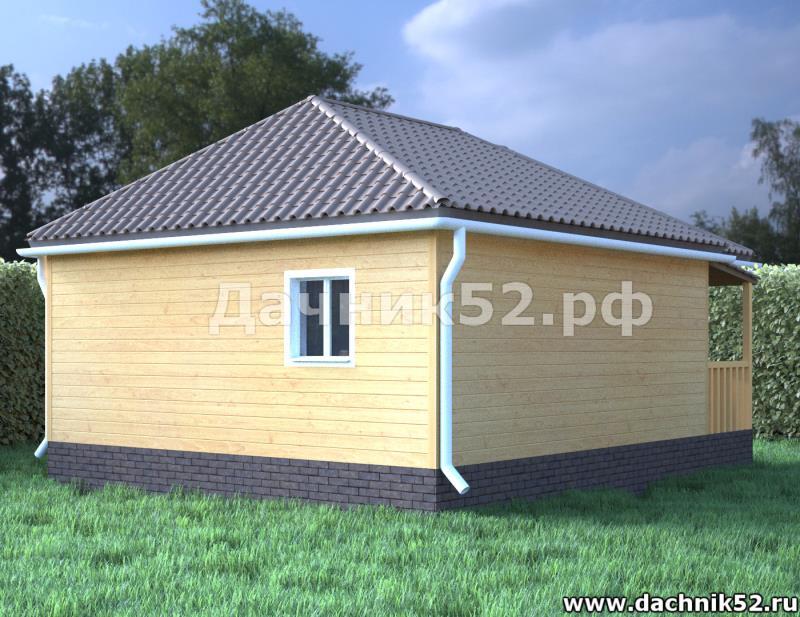Каркасный одноэтажный дом 6х6