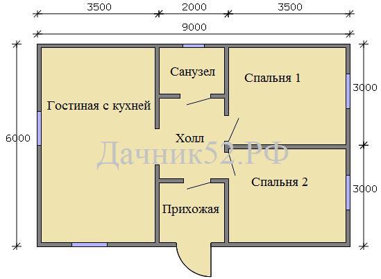 Дом 6х9 план комнат
