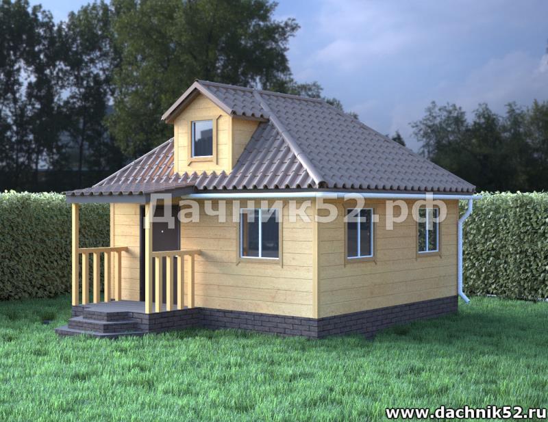 Дом 6х6 с чердаком