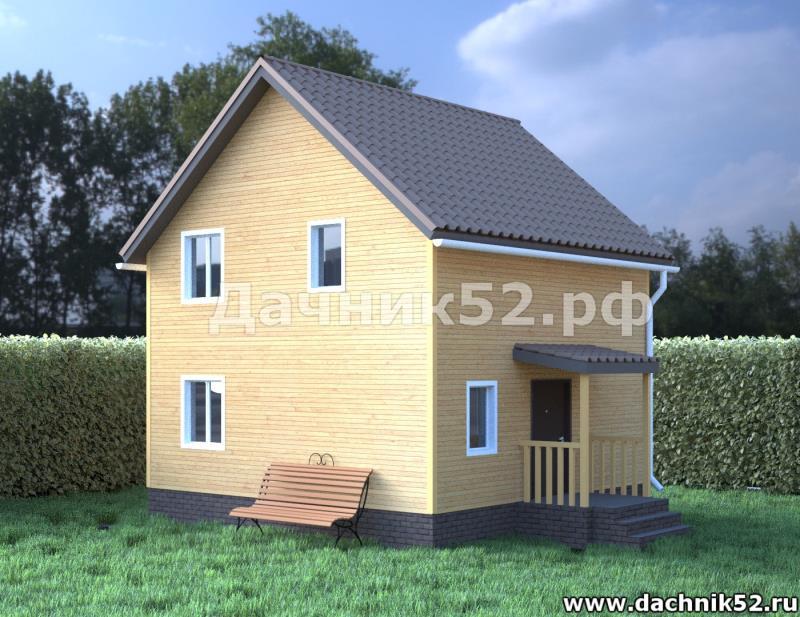Каркасный дом 6х6. Кремёнки 2