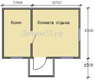 План дома 6х4 вариант 2