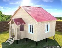 Каркасный дом 5х6 Прима 11