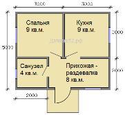 План каркасного дома 5х6