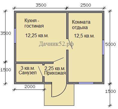 План дома вариант 3