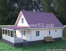 Проект дома 6х8 с мансардой Кремёнки 3