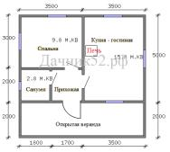 План дома 5х7