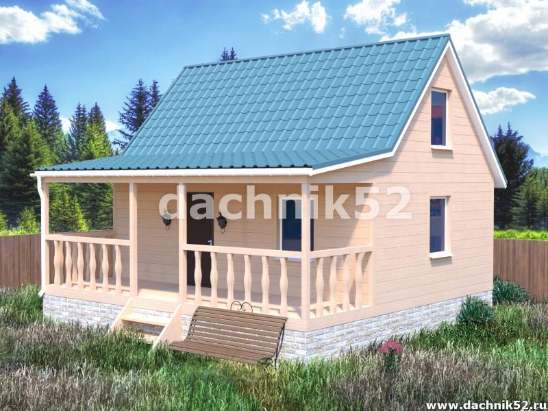 Дача каркасная 5х7 проект Уютный 2