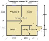 Каркасный дом 6х6 санузлом - Дачник52.рф