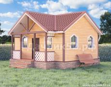 Одноэтажный дачный дом 5х7 с крыльцом