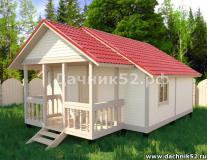 Каркасный дом 6х7 Прима 5 изменённый