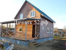Фото кркасный дом 6х7 полтора этажа проект Кремёнки 4