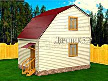 Дом 4х6 Аист 5 увеличенный