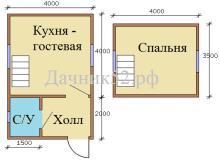 План дома аист 5 увеличенный с санузлом