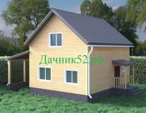 Каркасный дом 1,5 этажа Балчуг 16