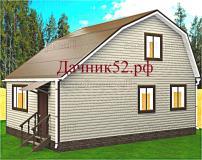 Каркасный дом 6х8,5 с мансардой Турпан 5