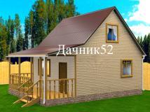 Дачный дом 6х7 Стриж с террасой