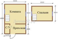План дома 4х6 Аист 6