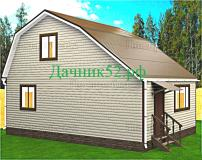 Каркасный дом 6х9 с мансардой проект Турпан 6