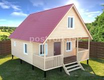 Каркасный дом 6 х 9 Кедр 3