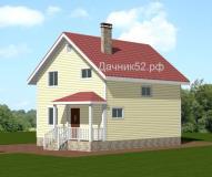 Каркасный дом полтора этажа Мотив