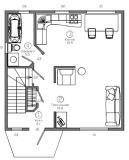 План первого этажа 7х7