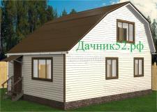 Дачный каркасный дом 6х8 Турпан 7