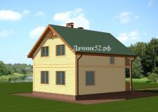 Каркасный дом полтора этажа 7х8 валенсия