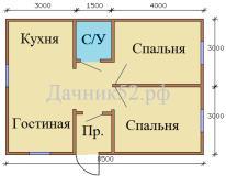 План дома 6х8,5