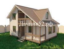 Каркасный дом 6 х 9 проект Комфорт ТБ