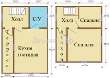 План дома 6х9 Комфорт ТБ